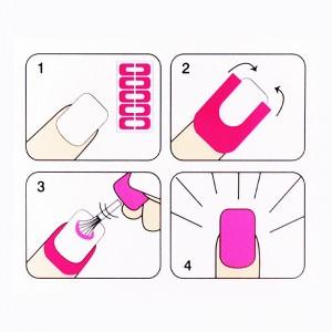 10pcs Peel Off Palisade Cuticole Autoadesivo Per Nail Art - ST010